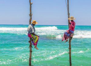 Sri Lankan stilt fishermen