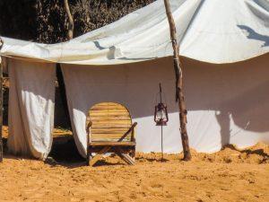 Desert camp in Lompoul
